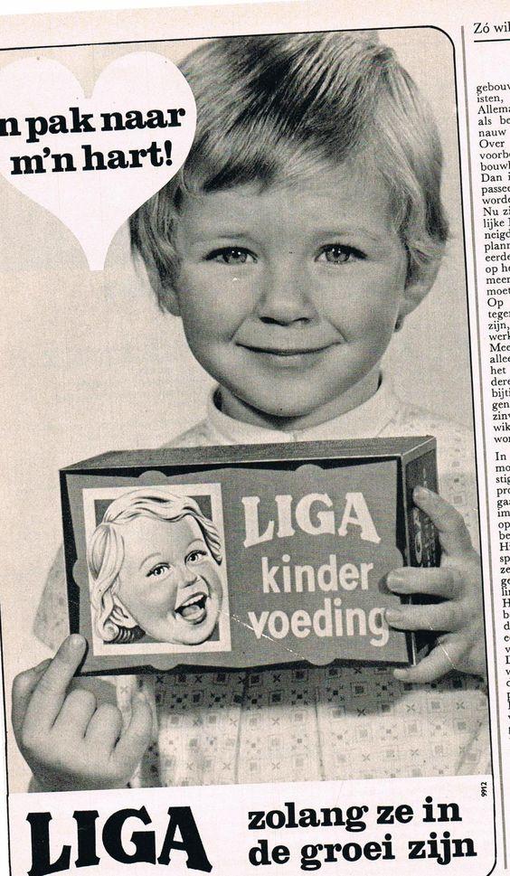 Oude advertentie Liga baby en peuter koeken 1971