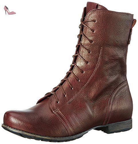 Think Menscha, Desert Boots Femme, Gris (Vulcano/Kombi 21), 39.5 EU