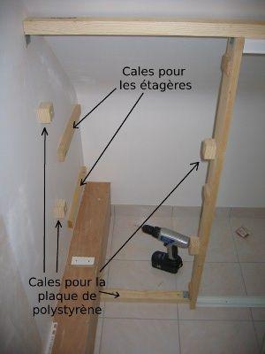 placard sous pente finalisation de la structure deco pinterest placard sous pente faire soi meme et placard - Fabriquer Un Meuble Sous Escalier