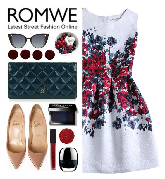 """Romwe contest"" by agus-leguizamon ❤ liked on Polyvore featuring Fendi, Chanel, Christian Louboutin, Illamasqua, Smashbox, Lauren B. Beauty and Bobbi Brown Cosmetics"
