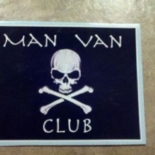Man Van Club sticker...too funny!