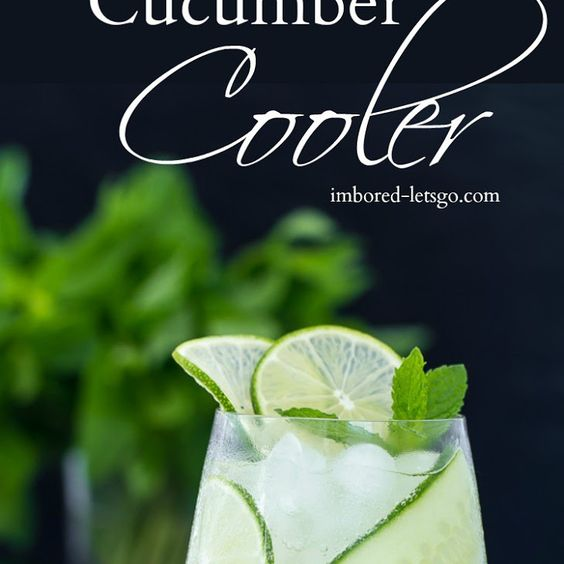 Gin Cucumber Cooler Recipe Beverages, Cocktails with gin, St Germain Liqueur…