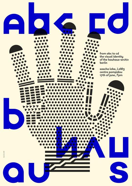 Sascha Lobe / L2M3 (@saschalobe), From ABC to CD. The Visual Identity of the Bauhaus-Archiv Berlin, Centre Pompidou, Paris, June 17, 2016 / Sascha Lobe: From ABC to CD. Die neue visuelle Identität des Bauhaus-Archivs Berlin (video), TYPO Berlin 2014...