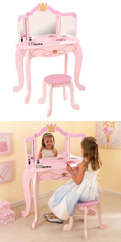 Bedroom Furniture 66742 Kidkraft Princess Vanity Set With Mirror Buy It Now Only 139 99 On Ebay Bedroom Kids Mirrors Kidkraft Princess Kids Furniture
