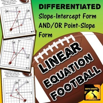 Point slope form worksheets math aids