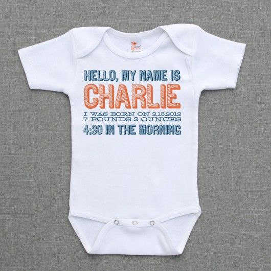 hello, my name is  .. baby boy birth announcement $16.  SO CUTE!!!!