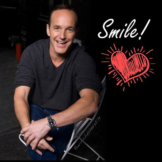 #clarkgregg #smile #cute #handsome #awwwwww #extraordinary