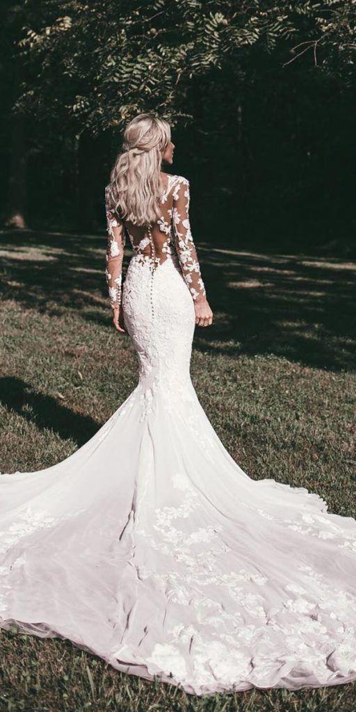 33++ Mermaid wedding dress with sleeves ideas ideas