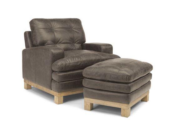 Flexsteel Living Room Leather Chair 1477 10 Woodley s