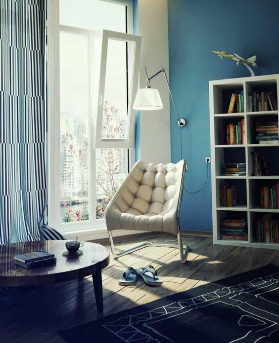 reading corner in modern houses