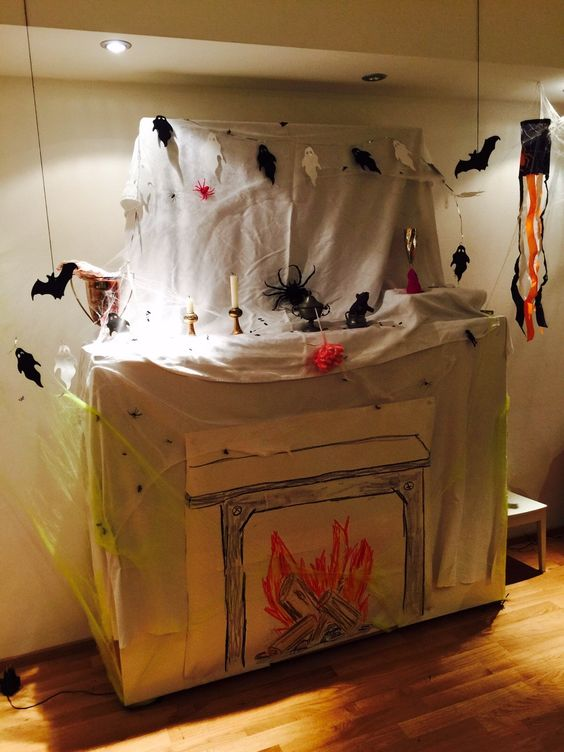 deko halloween gruselparty kindergeburtstag halloween grusel party pinterest deko und. Black Bedroom Furniture Sets. Home Design Ideas