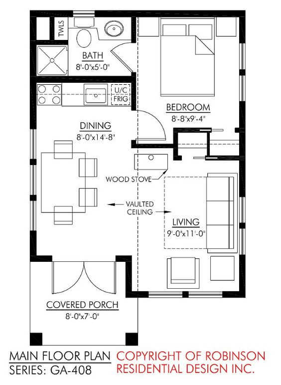 Robinson residential guest house guest houses for Robinson house plans