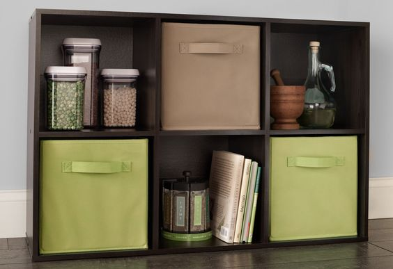 Need a little extra storage space for recipe books and spices? Add a 6 Cube Organizer to your kitchen!