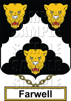 Farwell Family Crest apparel, Farwell Coat of Arms gifts