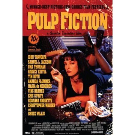 Amazon.com - Pulp Fiction Movie (Uma - Retro Ad) Poster Print - 24x36 Poster Print, 24x36 Poster Print, 24x36