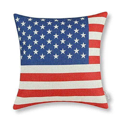 "Home Cushion Covers US American National Flag 18"" X 18"""