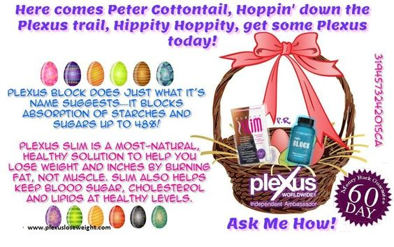 So you overdid it with the Easter candy today? I have just what you need. Contact me today! www.plexusloseweight.com