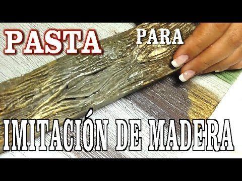 Os dejo este vídeo de como hacer pasta para imitación de madera, endurece, da textura, imita perfectamente sobre cualquier soporte, espero que os guste VIDEO...