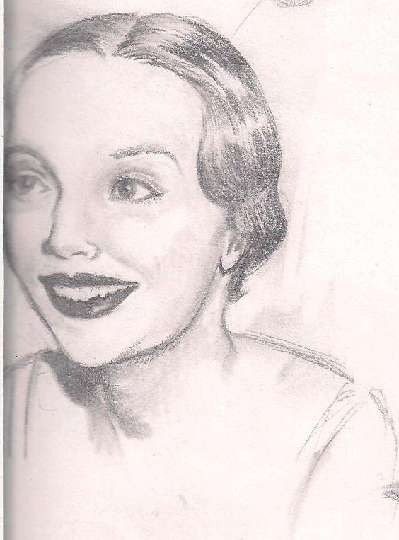 Random pencil sketch I did from my Mom's fashion book.