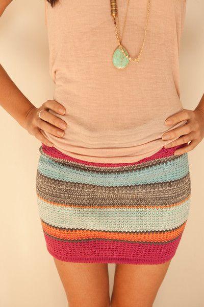 Goddis Knit Tube Skirt in St. Lucia