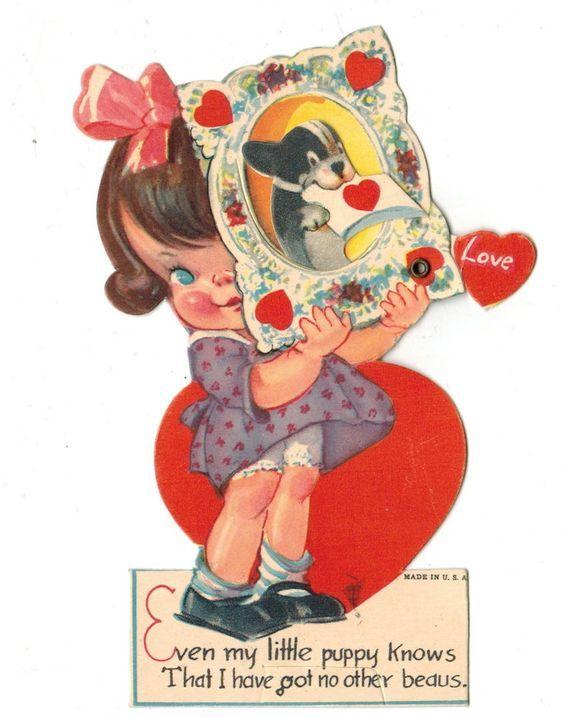5c9fc5211269a1694a08daca1c6ac7ed Jpg 564 717 Pixels Vintage Valentine Cards Vintage Valentines Retro Valentines