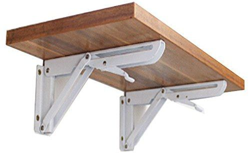 Amazon Com Hyacinthus 12 Inch Folding Support Shelf Bracket Steel Bench Table Loaded Supports Wall Mount Support For Undermount Sinks Microwave Beds And Other