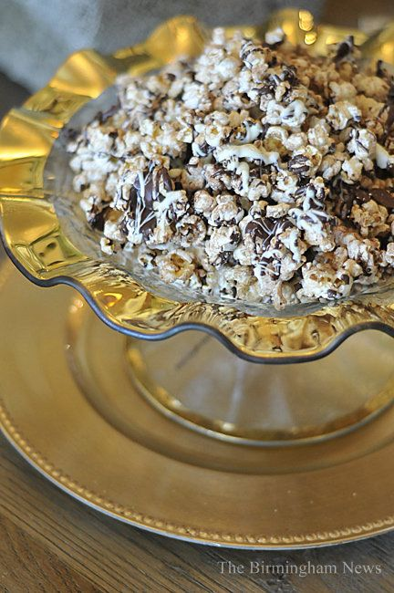 Martie's Double Drizzle Kettle Corn - great dressed up version of popcorn for a movie party!