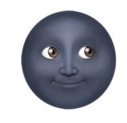Black Moon Emoji Gambar Gambar Anime Stiker