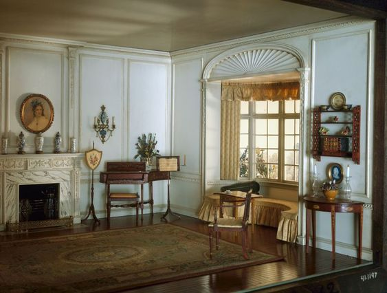 Miniature rooms to tell and music rooms on pinterest for 1800 salon chicago