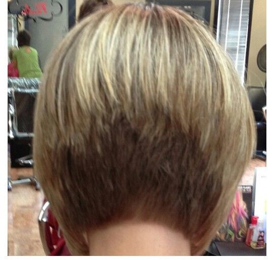Peachy Stacked Bobs Bobs And Bob Back View On Pinterest Hairstyles For Women Draintrainus