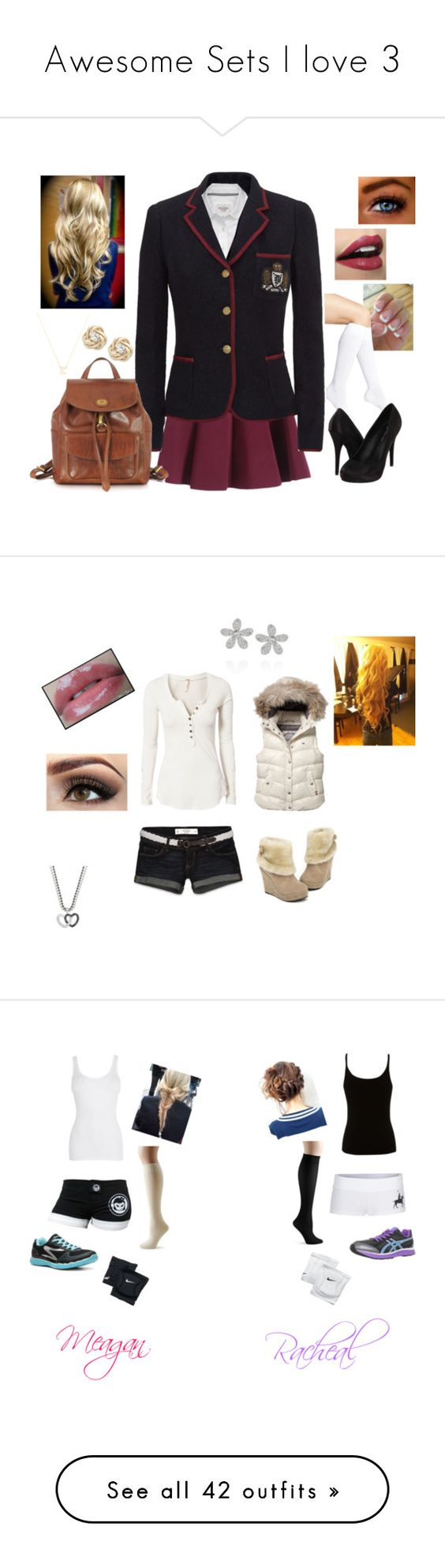 """""""Awesome Sets I love 3"""" by kiara-fleming ❤ liked on Polyvore featuring Nordstrom, Polo Ralph Lauren, Abercrombie & Fitch, Michael Antonio, The Bridge, NYX, Wrapped In Love, women's clothing, women and female"""