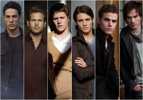 Male cast of the Vampire Diaries. It doesn't get much better than this.