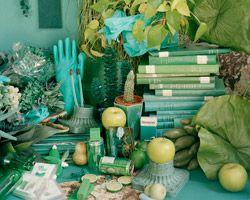 Artist color-codes her life collections in photos (via designboom featuring work of Sara Cwynar)