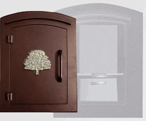 Manchester with security option, Decorative Oak Tree, Antique Copper