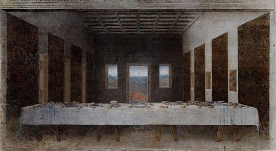 La mesa tras la última cena.