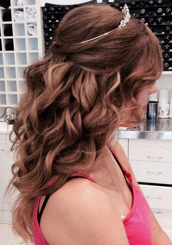 Debutante hair, pinned curls by Khayaam: