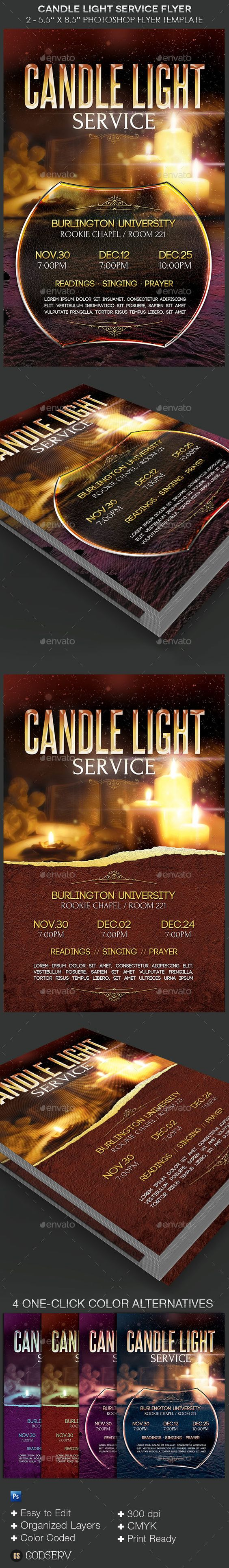 candle light service flyer templates flyer template church and buy candle light service flyer templates by godserv on graphicriver candle light service flyer template is for any church event during the christmas season