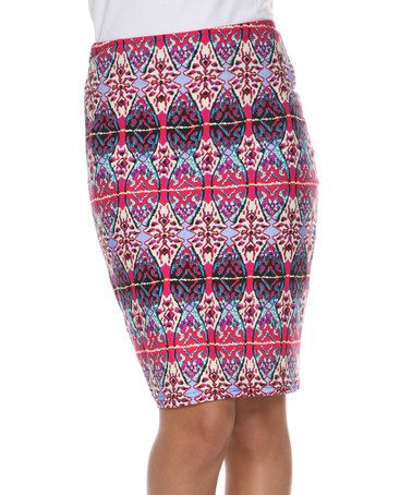 Another great find on #zulily! Fuchsia & Royal Barbara Pencil Skirt #zulilyfinds