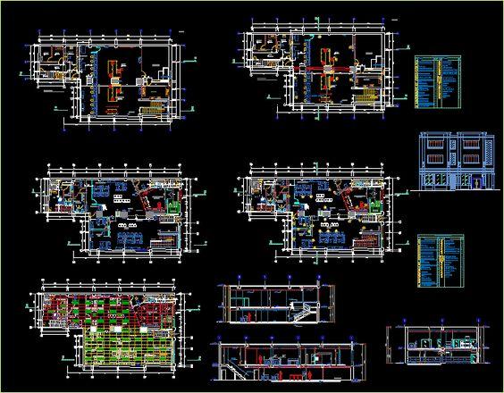 Plan Autocad Agence bancaire dwg | Recherche et AutoCAD