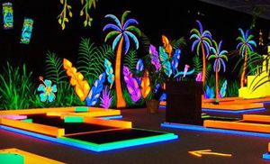 Groupon - Unlimited Rounds of Glow-in-the-Dark Mini Golf During One Visit for Two or Five at Glowgolf (Up to 57% Off) in Multiple Locations. Groupon deal price: $7.00