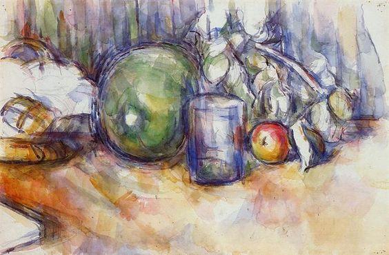 Still Life with Green Melon - Paul Cezanne