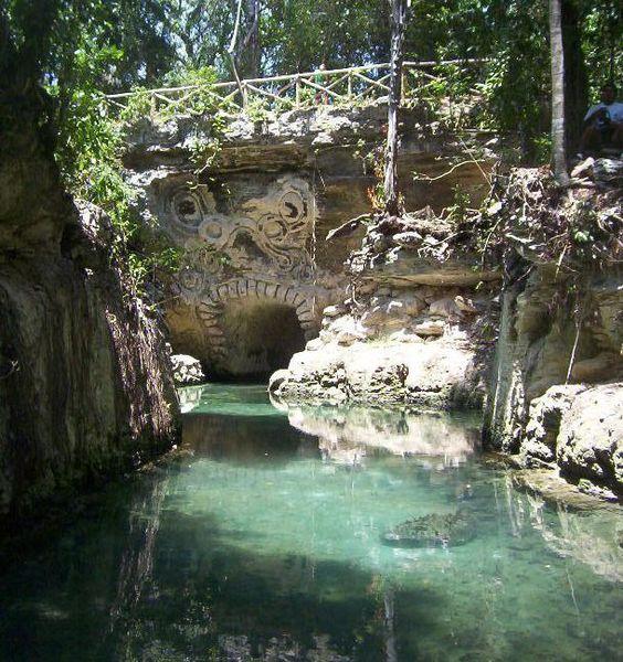Xcaret, Mexico swim through river, very cool
