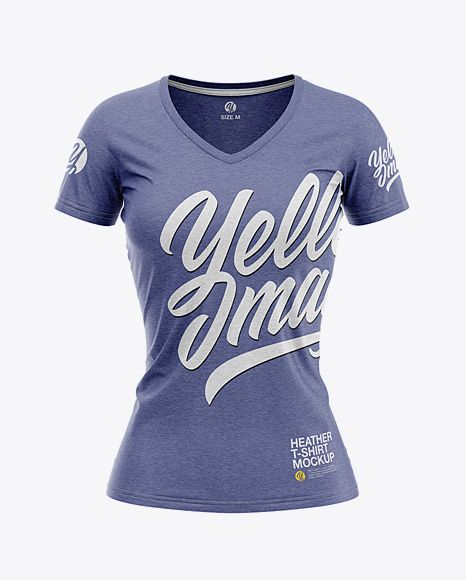 Download Women S Heather Slim Fit V Neck T Shirt Mockup Front View In Apparel Mockups On Yellow Images Object Mockups Shirt Mockup Tshirt Mockup Clothing Mockup