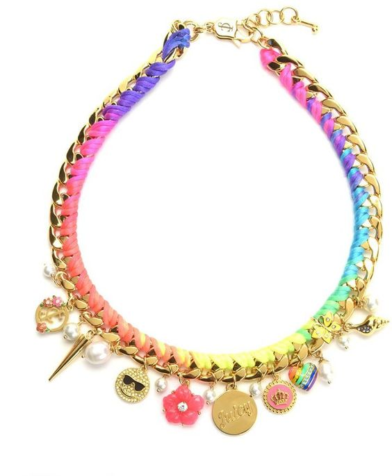 Pin for Later: Upgrade Your Jewellery Box With This Emoji Bling  Juicy Couture Woven Charm Statement Necklace (£117)