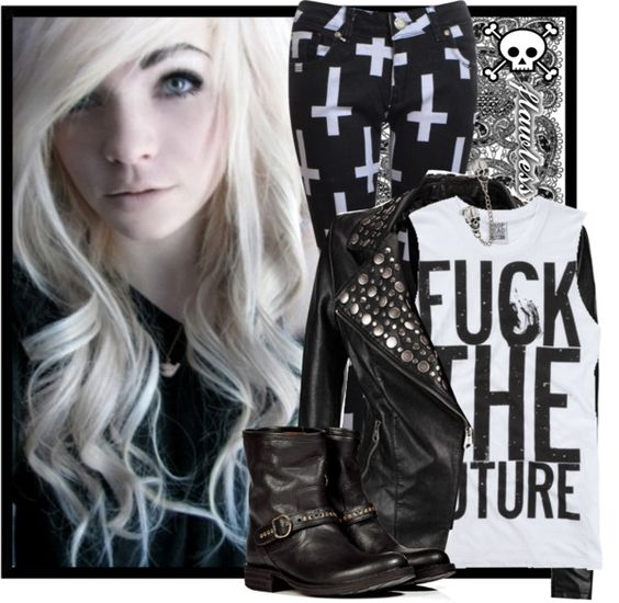 """""""Punk Life"""" by emo-k ❤ liked on Polyvore"""