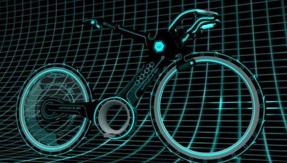 La bicicleta Tron