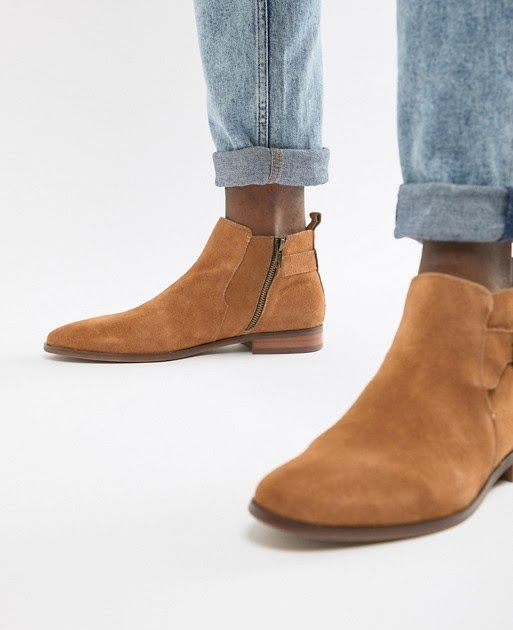 River Island Suede Chelsea Boots In Tan