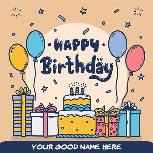 Birthday Cake Card Write Your Name Online Birthday Wishes Greeting Cards Birthday Card With Name Birthday Wishes Greetings