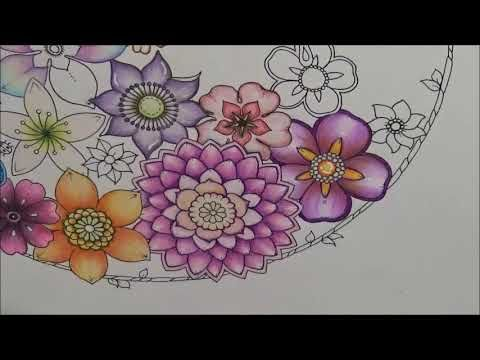 Flower Coloring Ideas And How To Color Magical Jungle Coloring Book Part 5 5 Youtube Coloring Books Magical Johanna Basford Coloring