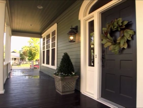 Front Porch Catastrophe House S1e1 Pinterest Paint Colors Magnolia Wreath And Dark